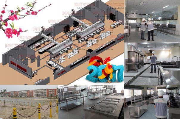bếp công nghiệp trường học